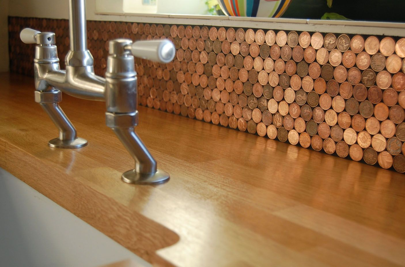 Okay now i really want to make a penny backsplash - Penny tile backsplash kitchen ...