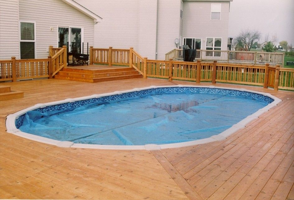 Stunning Ready Made Pool Decks With Above Ground Solar Pool Cover