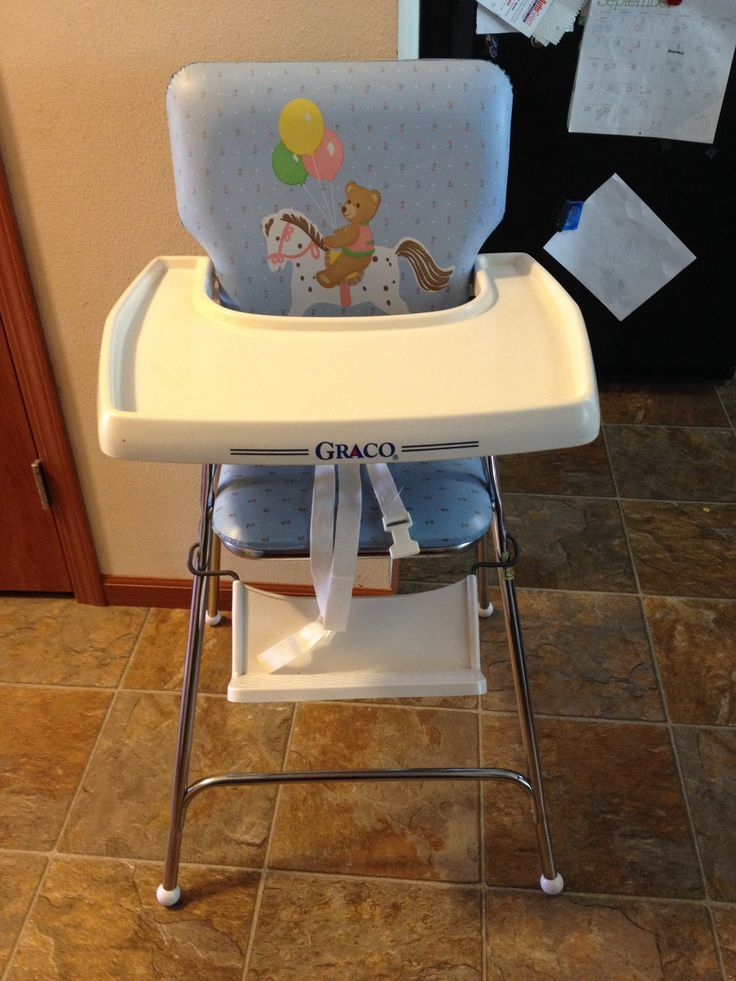 Image result for blue high chair white 80s graco vintage