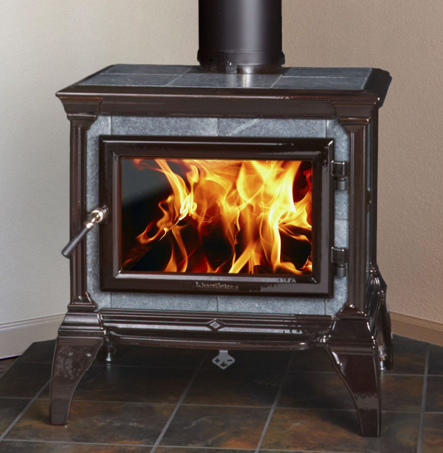 Wood Burning Stove With Glass Door