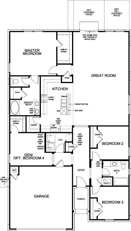 Plan A 1965 Modeled At Mason Hills The Lakes In Leander Tx Kb Home House Floor Plans Floor Plans Image House