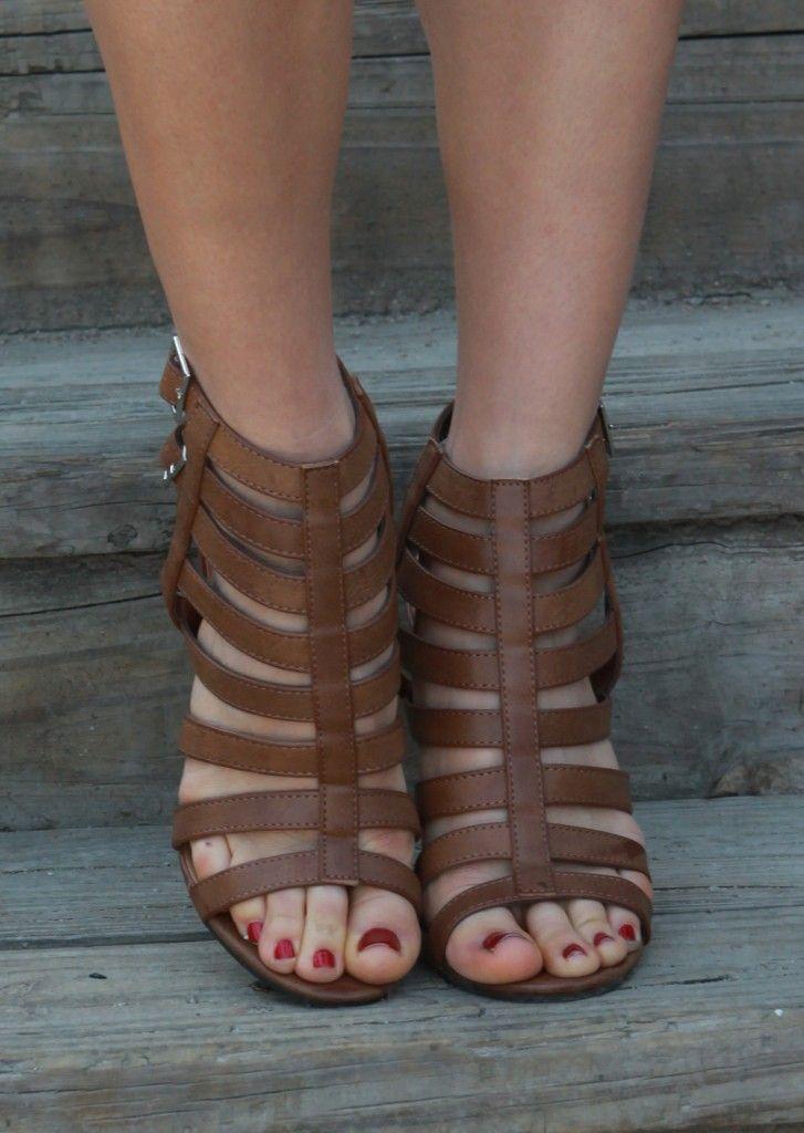 Strappy Peep Toe Heel