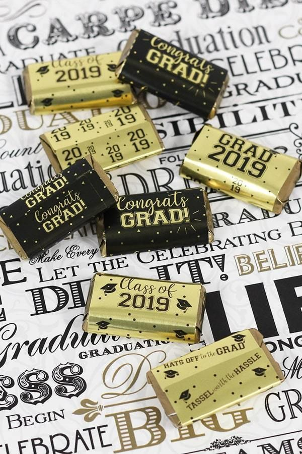 Class of 2020 Graduation Mini Candy Bar Labels - 45 Stickers #graduationparties