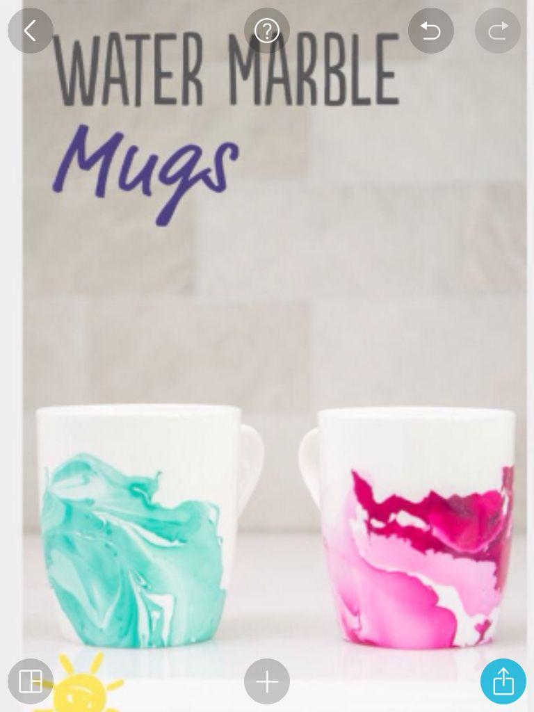 Nail Polish Mug Marbling - Creative Touch
