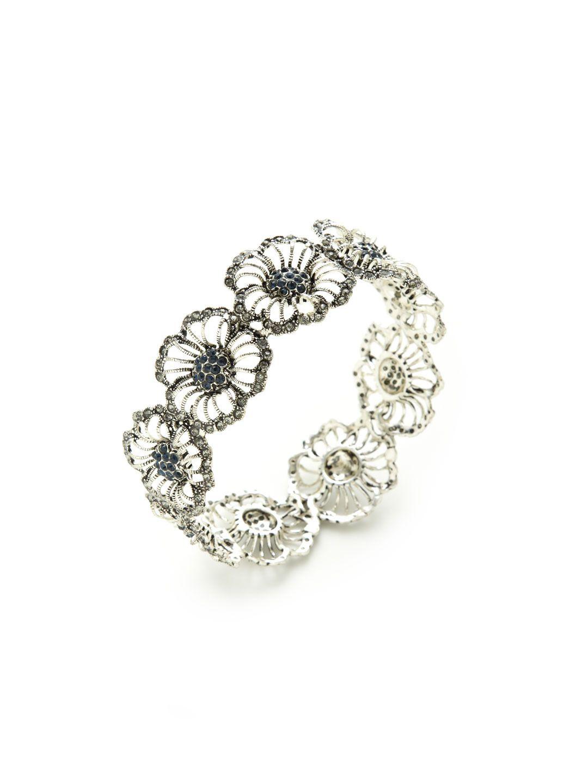 Flower Bangle Bracelet by Azaara Vintage at Gilt