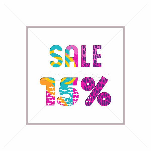 C Stock Quote Magnificent Sale 15% Off Color Quote For Business Discount Stock Photo C