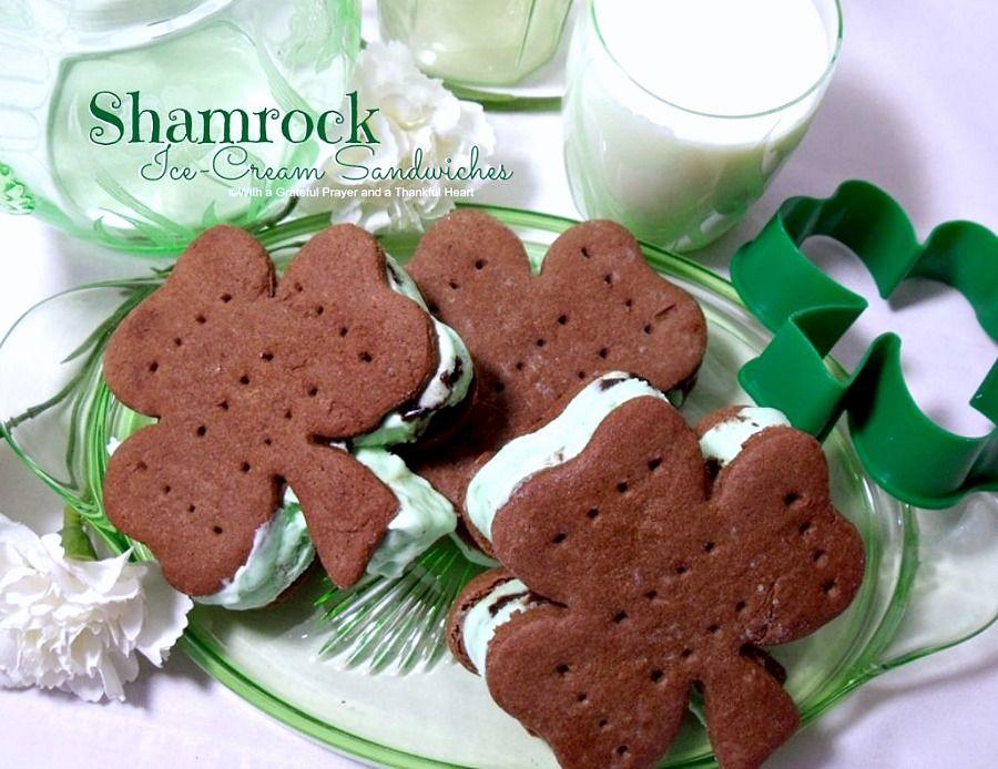 Minty ice cream shamrocks grateful prayer thankful