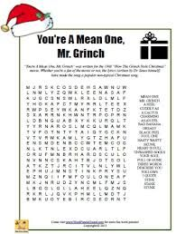 how the grinch stole christmas word search - Google Search | Color ...