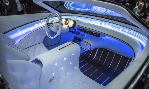 The Interior Of The Vision Mercedes Maybach 6 Cabriolet Is Just As