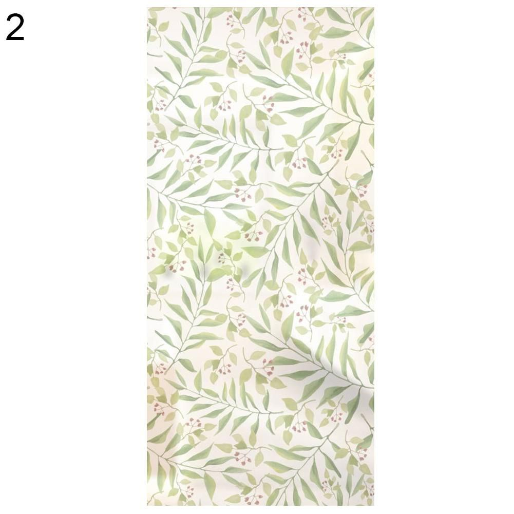 Photo of Leaves Print Matte PVC Glass Window Door Stickers Art DIY Craft Bathroom Decor – as the picture f