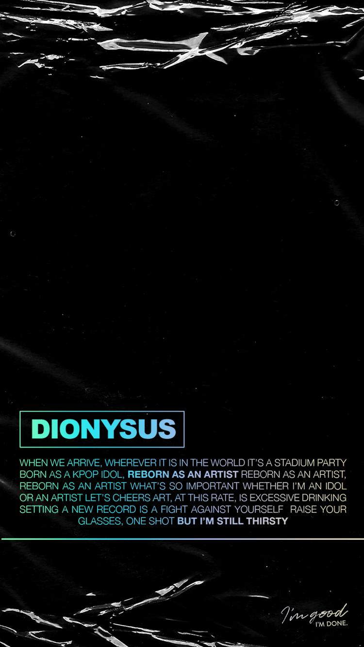 Dionysus BTS Map of the Soul: Persona Lyric Lockscreens ...