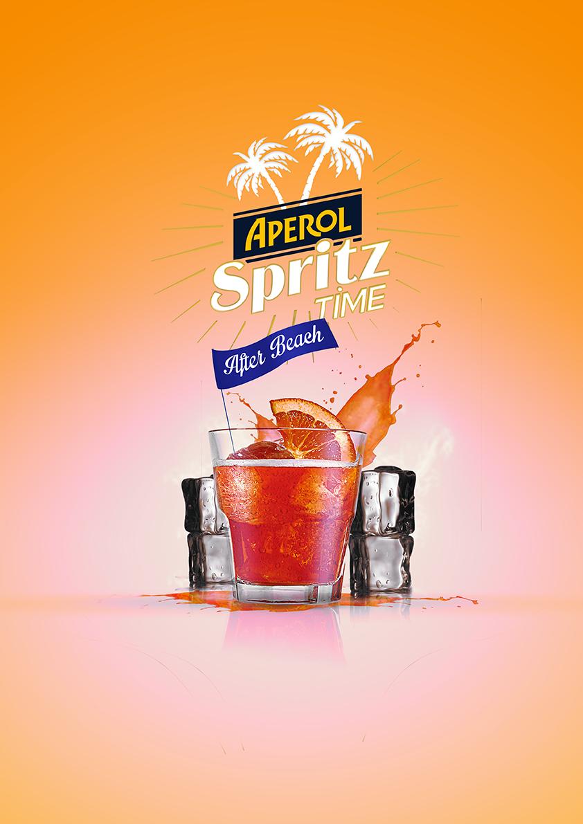 Visuel publicitaire réalisé pour la marque d'alcool Apérol