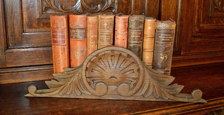 Antique French Carved Oak Pediment Mount Ornate Wood Hardware Repurpose by VintageFleaFinds on Etsy