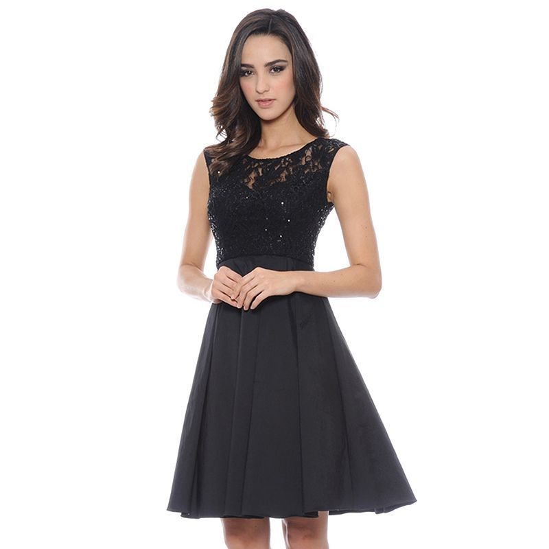 1 by 8 Mixed-Media Fit & Flare Dress - Women's,