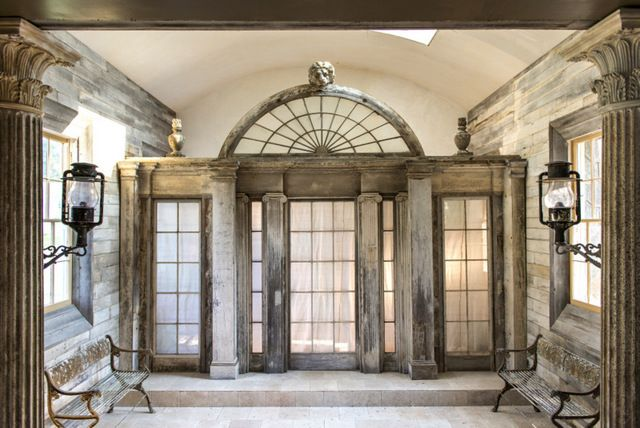 Salvaged House Parts From Freetown Ny Farmhouse And Elements From His Collection Installed In S Architecture Details Architecture Architectural Inspiration