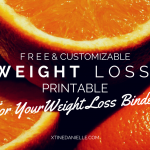 Free & Customizable Weight Loss Journal Printable
