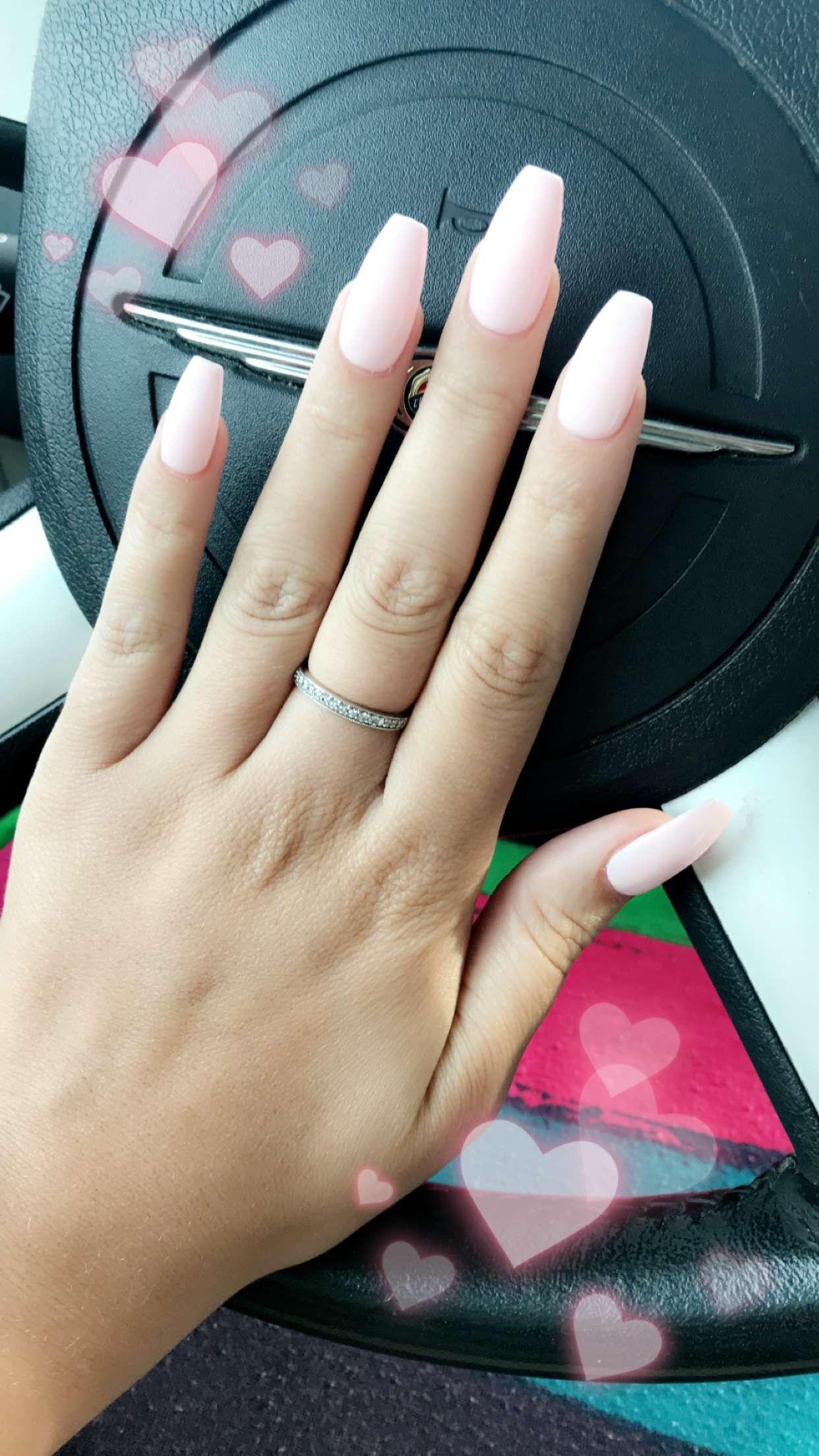Dnd Gel Polish 550 Coral Castle Coffin Shape Acrylic Nails Dnd Gel Polish Gel Polish Colors Gel Nails