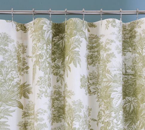 matine toile shower curtain pottery