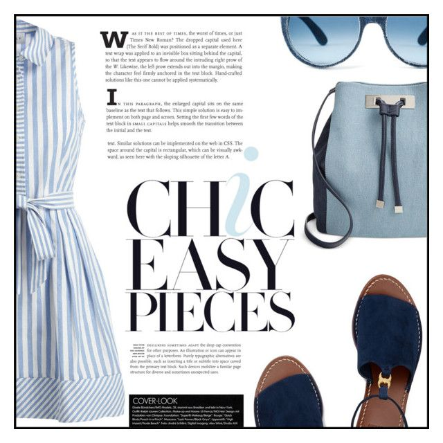 """""""Chic easy pieces"""" by elisapar ❤ liked on Polyvore featuring Milly, Tory Burch, INC International Concepts and shirtdress"""