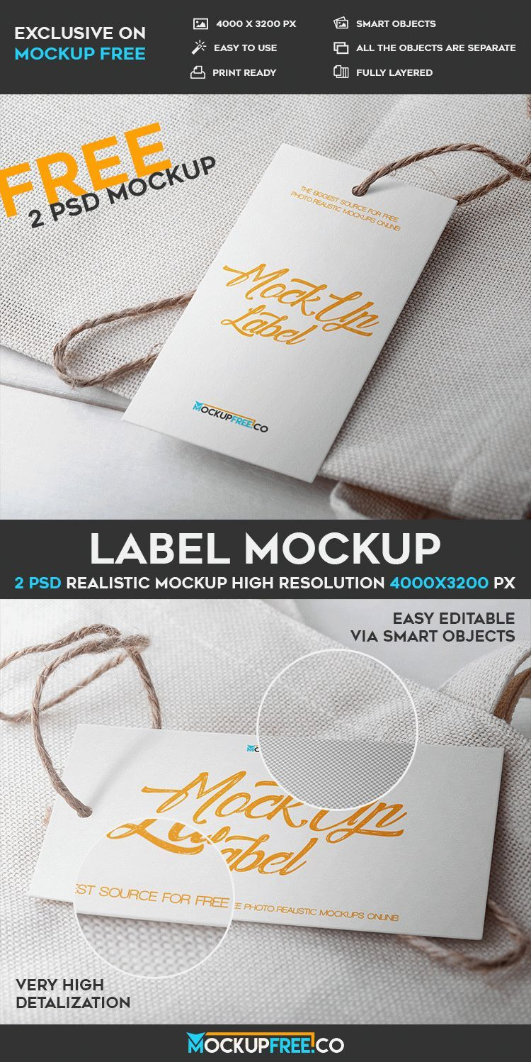 Free Label Psd Mockup  Free Psd Templates  Free Photoshop