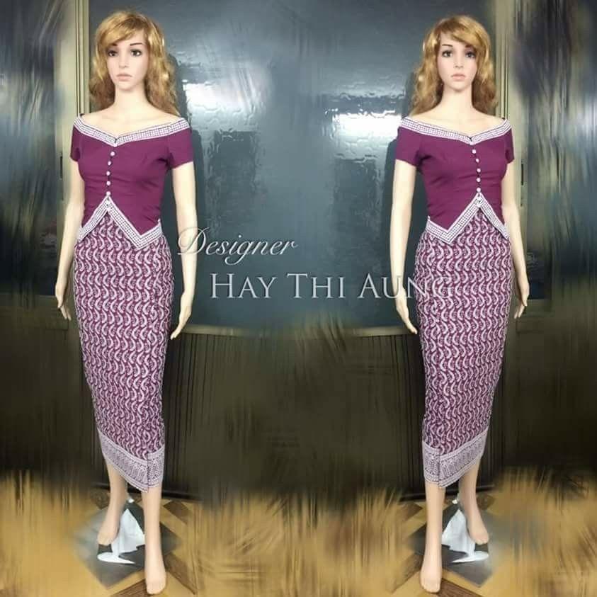 Pin By Chan Lass On Myanmar Dress