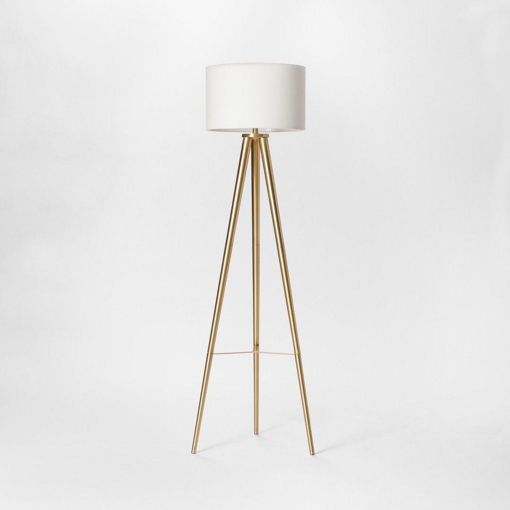 Delavan Tripod Floor Lamp Clear Project 62 Tripod Floor Lamps Brass Floor Lamp Gold Floor Lamp