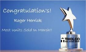 Congrat's to Roger Herrick for most units sold in March! Keep up the good work!Congrat's to Roger Herrick for most units sold in March! Keep up the good work!