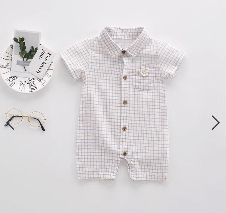 1b8c13035 How adorable is this shirt styled romper?! Your baby boys will look so  handsome