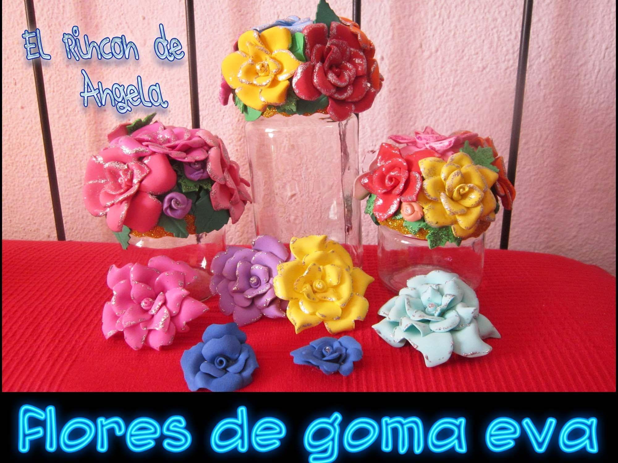 Como hacer flores de goma eva o foami para decoracion | Manualidades, Rosas  en goma eva, Como hacer flores