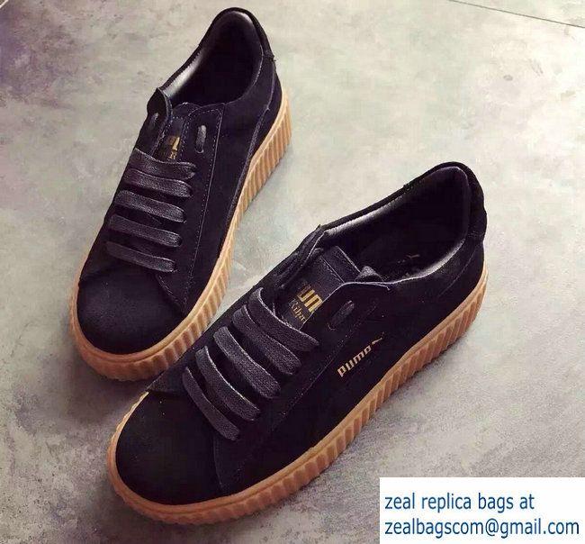 Fenty Puma Suede Creeper Sneakers Black by Rihanna 2016