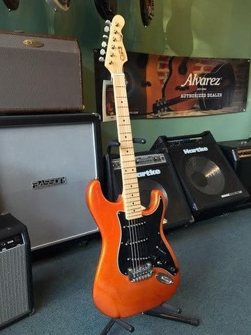 G&L S-500, Electric Guitar Designed by Leo Fender, Made in the USA - Tangerine Metallic