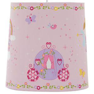 Lovely Girls Kids Pink Princess Carriage Light Shade Pendant Bedroom Nursery   eBay