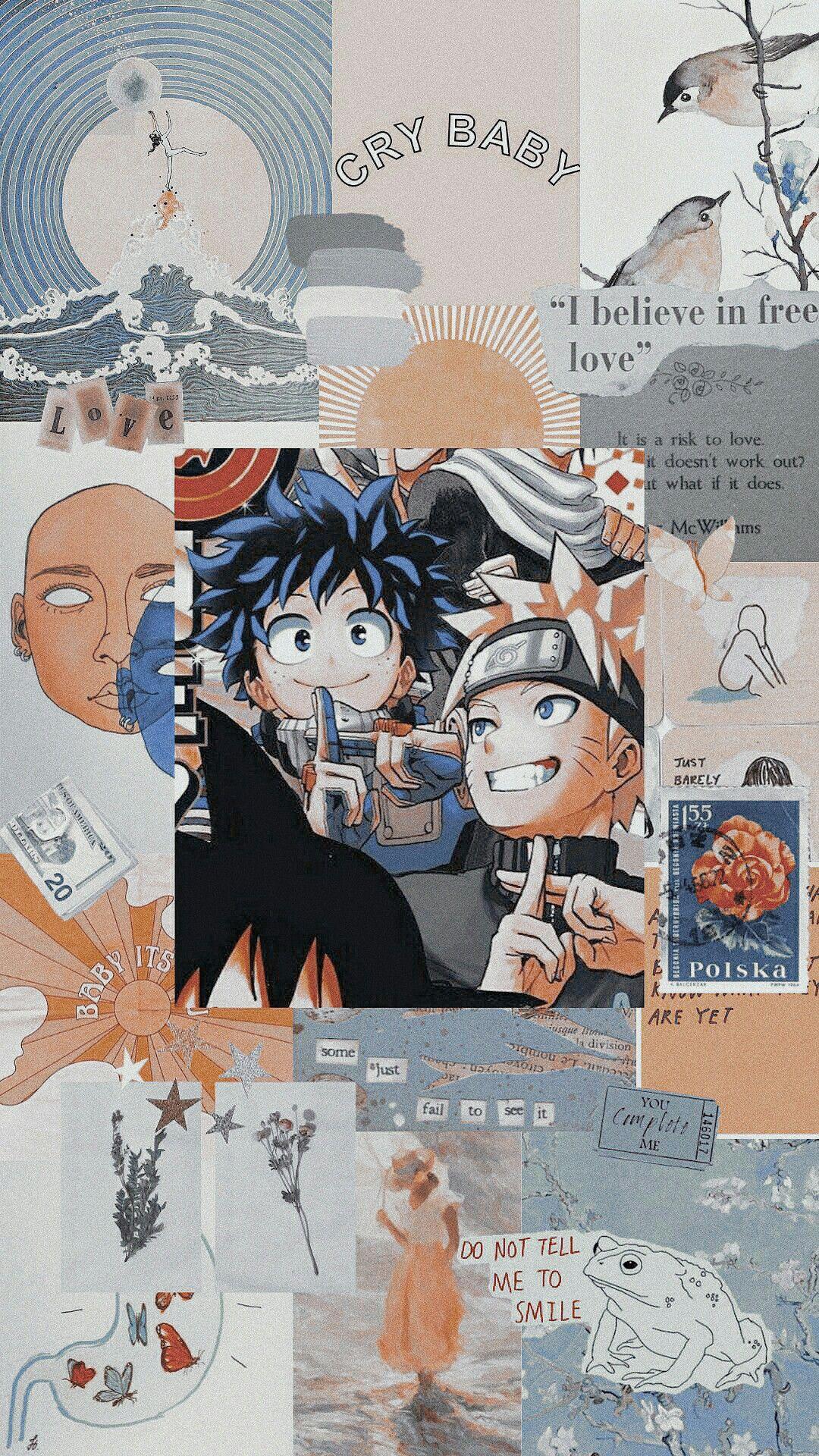 Deku And Naruto Anime Wallpaper Aesthetic Anime Naruto Wallpaper Aesthetic anime wallpaper iphone naruto