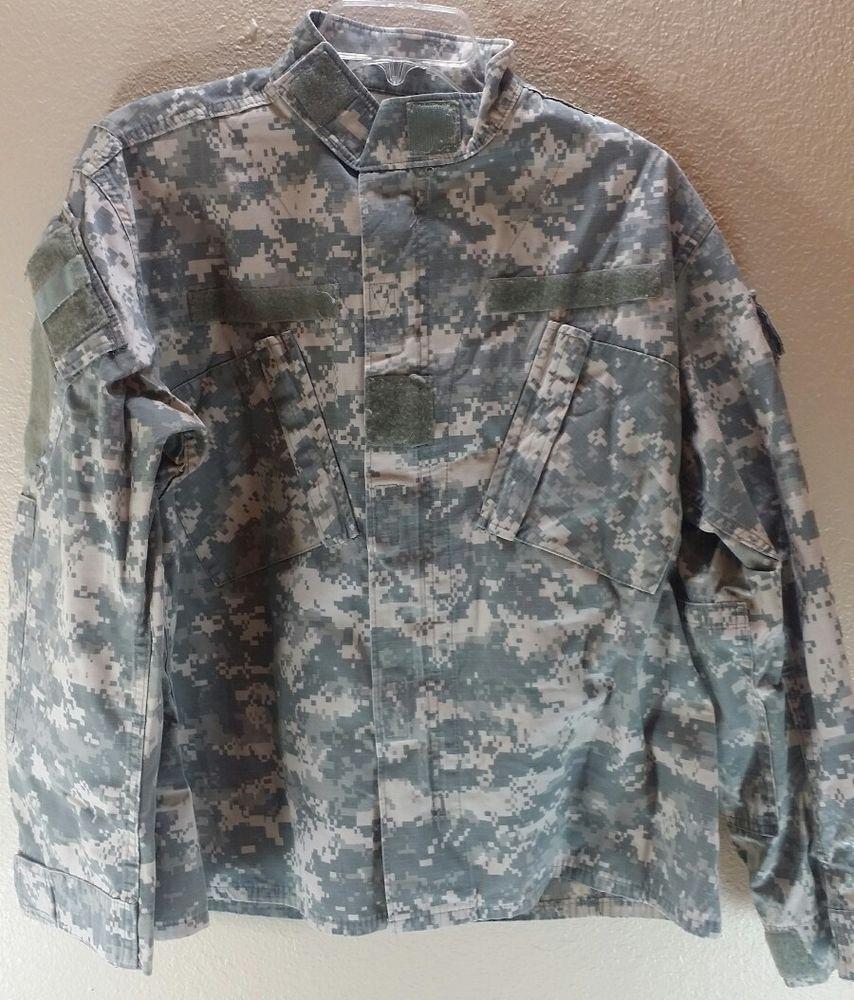US ARMY Combat Uniform Military Jacket Shirt Digital Camo