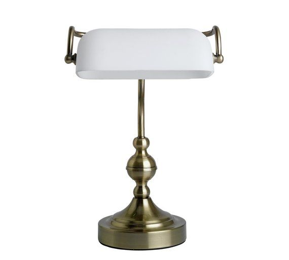 Buy collection touch bankers lamp brass at argos co uk your online