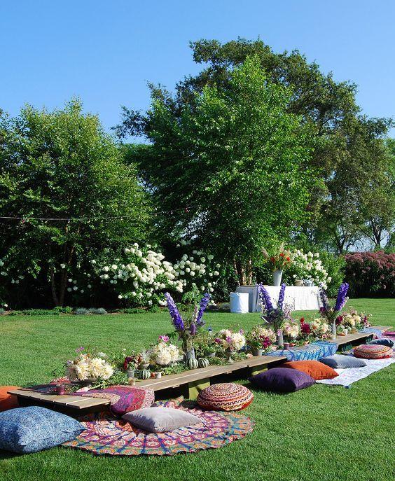 Mesas comunitárias no casamento - Berries and Love