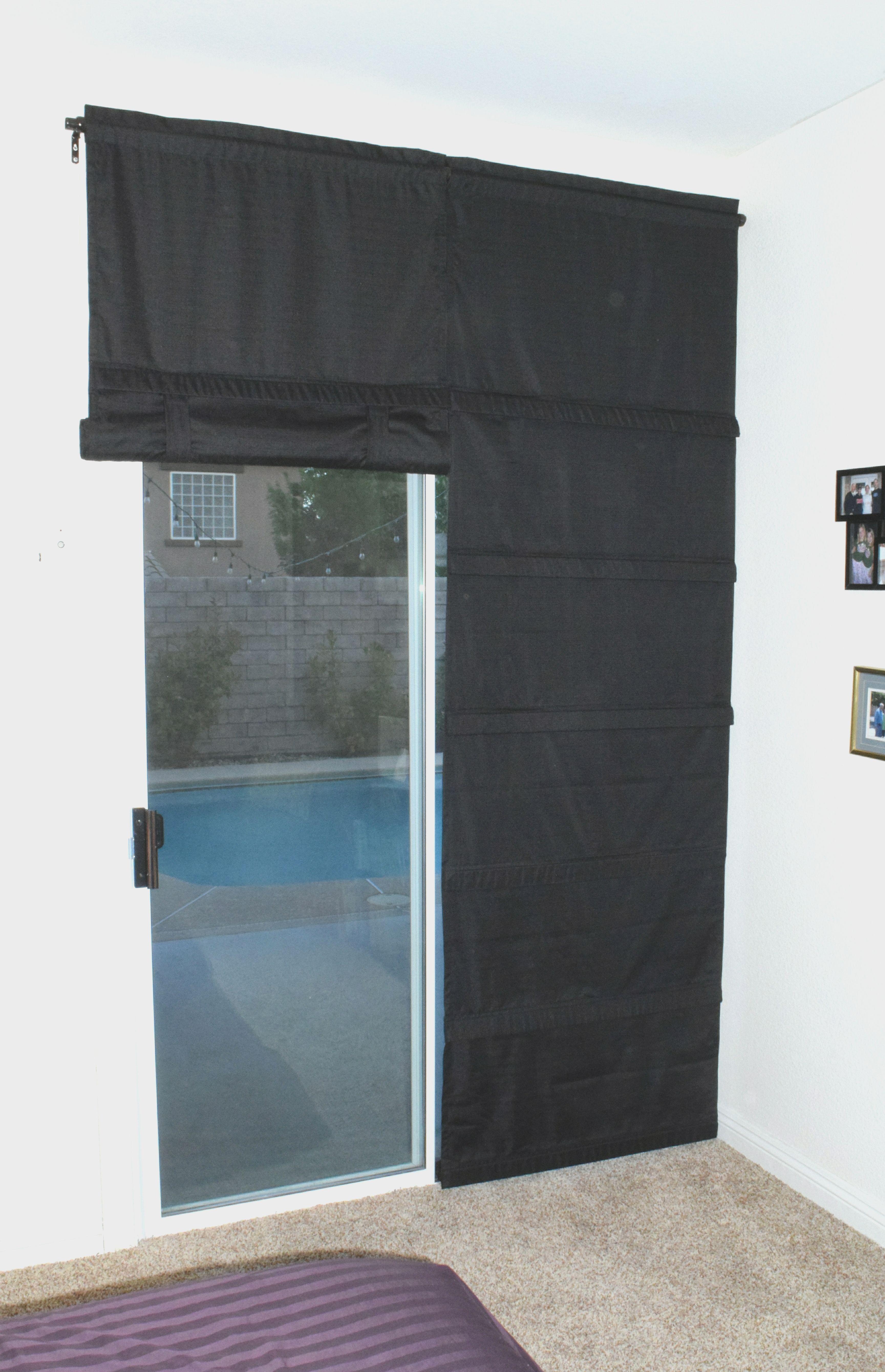 Black Blackout Sliding Glass Door Curtain Shade Price Is Per Panel Sliding Glass Door Sliding Glass Door Curtains Sliding Glass Door Window
