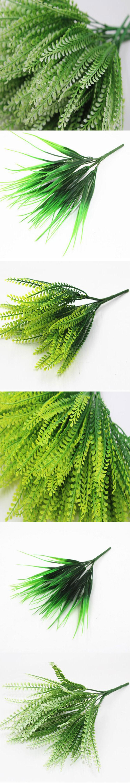 2017 Rushed 10pcs 7 Fork Basil Leaves Simulation Plant Fake Fl Decor Artificial Plastic Gr Home