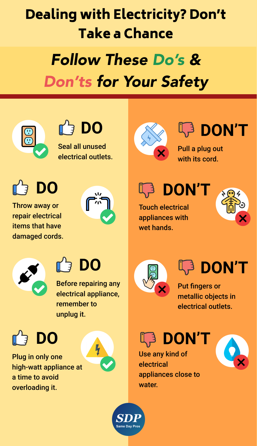 Electrician Health And Safety Poster Occupational Health And Safety Workplace Safety Tips