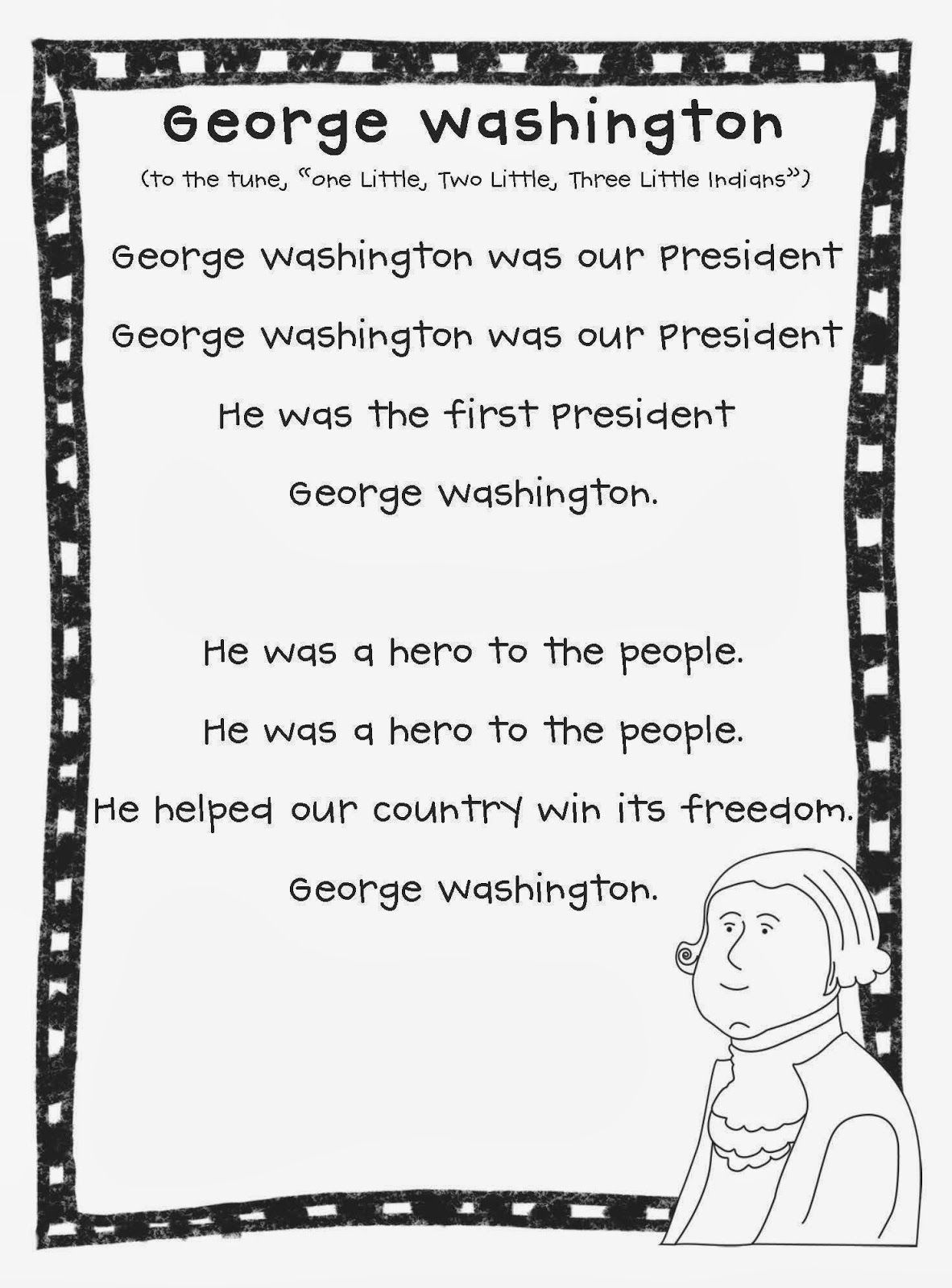 Happy President S Week George Washington Poem And Over 40