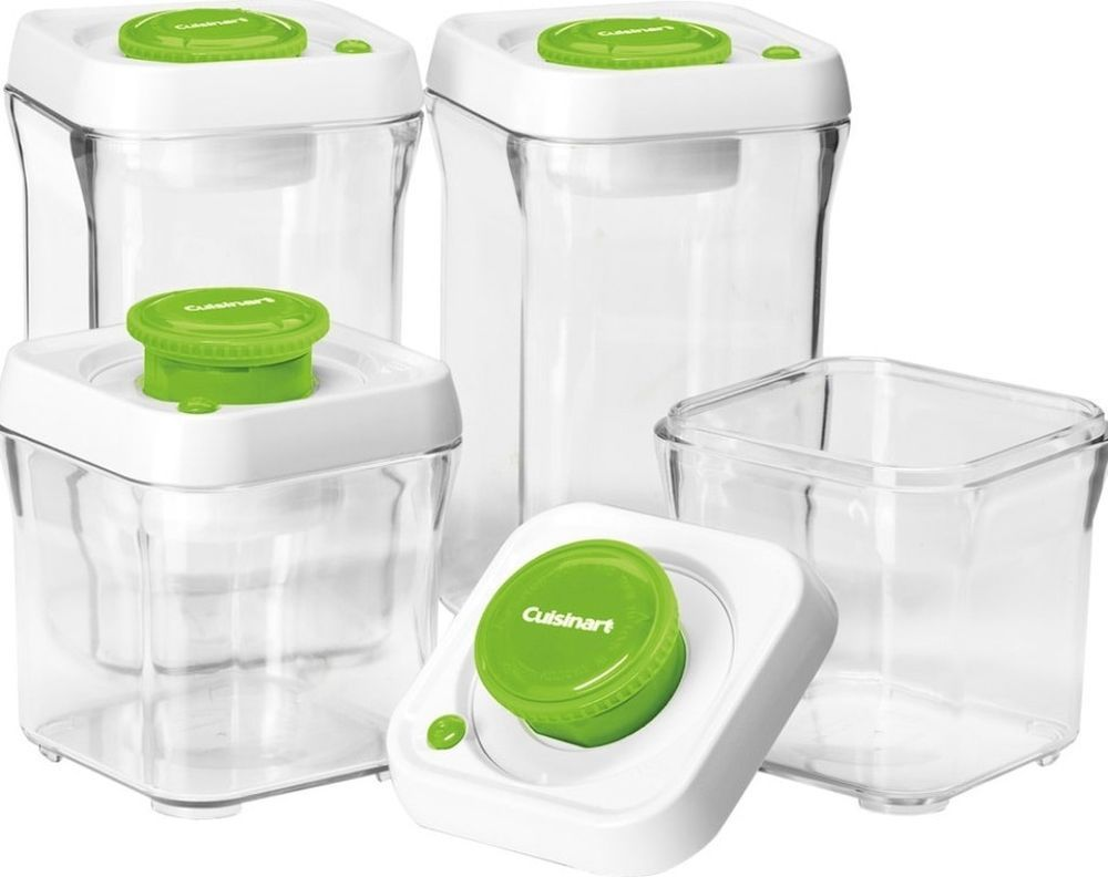 8 Piece Vacuum Sealed Food Storage Containers Stackable Microwave Safe New Storage Food Storage Set Food Storage Container Set