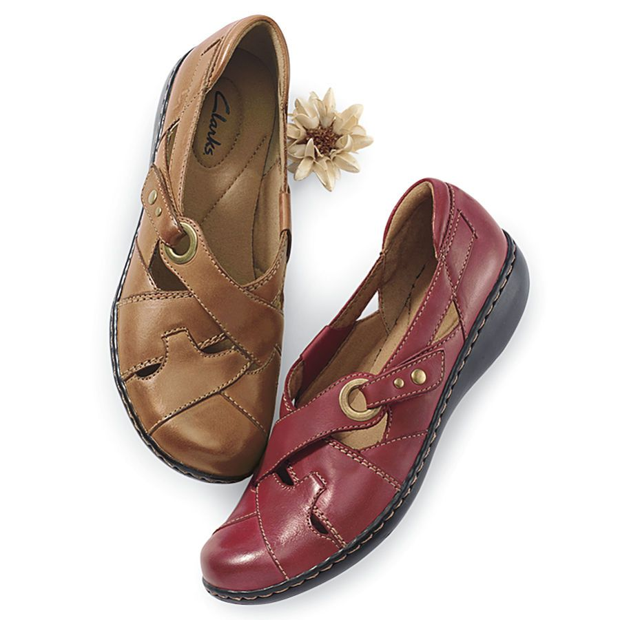 adc55b7862a Woven Leather Shoes by Clarks - Women s Clothing