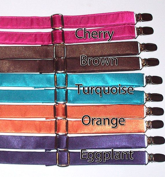 Choose Your Color Suspender and Bow Tie Set by zebraduck ...