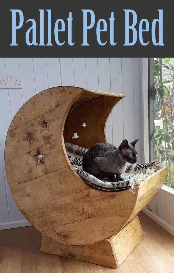 Moon Crib From Pallets Diy Stuffed Animals Moon Crib Cat Bed