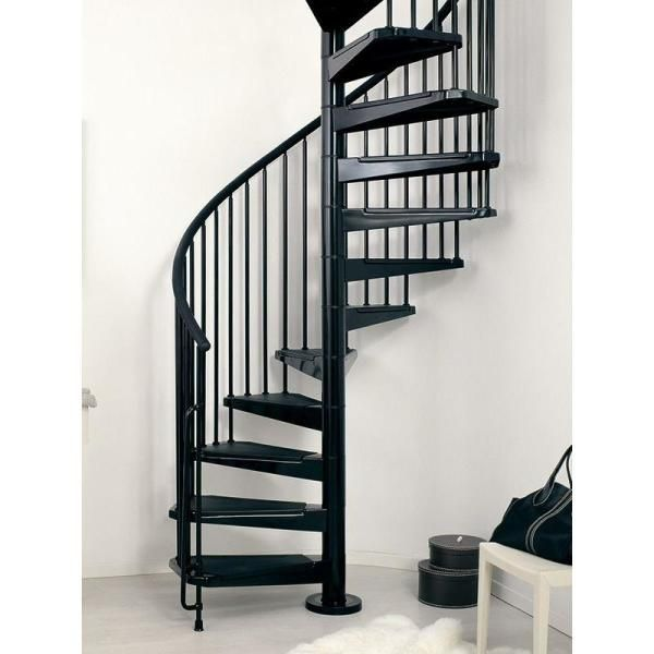 Best Arke Civik 47 In Black Spiral Staircase Kit K03016 640 x 480