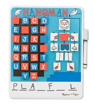Flip to Win Hangman Game. Road trips have a new companion in the Flip to Win Hangman Game, which adds a new twist to a classic game! The Flip to Win Hangman Game from Melissa  Doug is the perfect travel game for the most mobile of families. The Flip to Win Hangman Game includes a sturdy game board with an erasable whiteboard surface, a self-storing marker with felt eraser, and attached game pieces that allow kids to keep playing and playing with losing any pieces! #travel #game #kids #fami