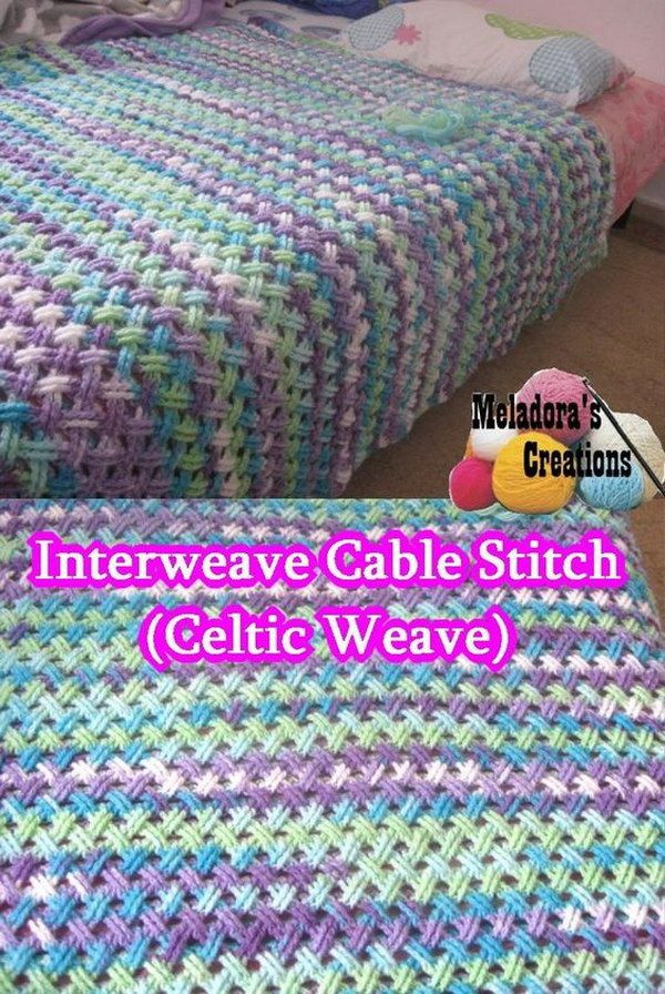 Interweave Cable Stitch Blanket.