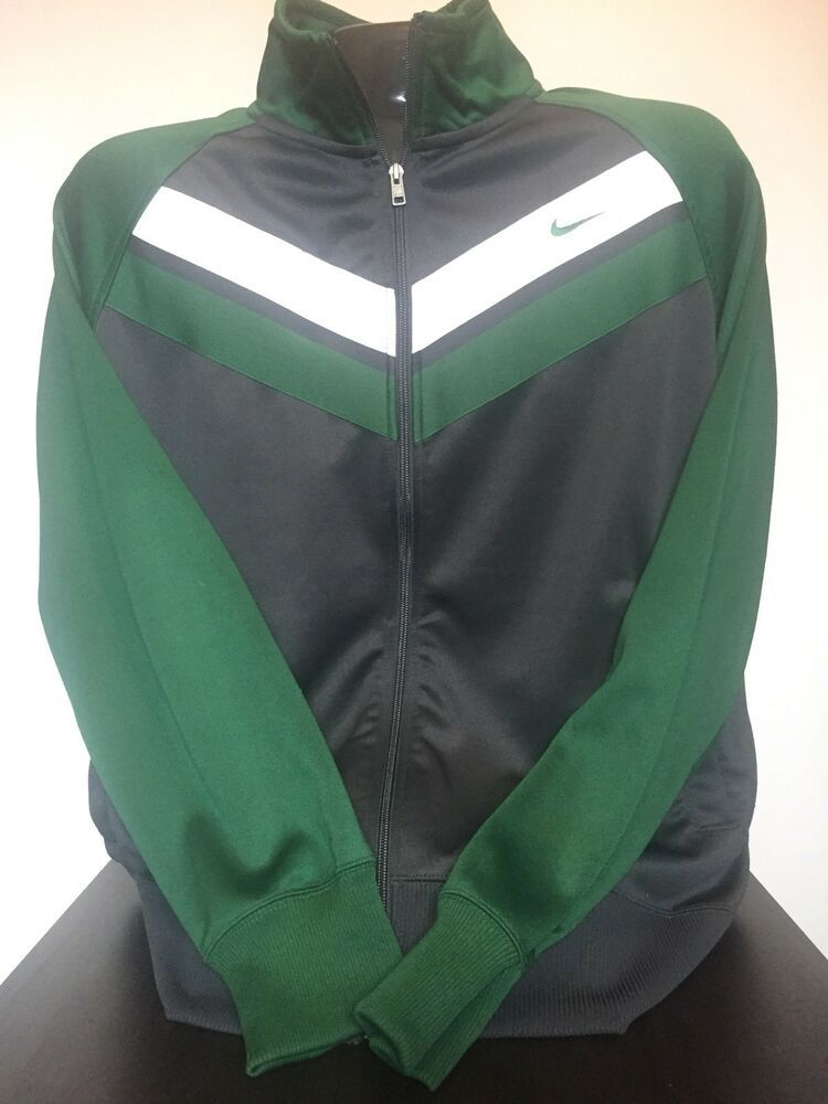 b6cf0badac7 Details about  NIKE  -Vintage look -Green and Black Zip Up Jacket ...