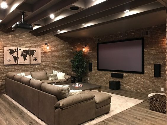 Finish Or Remodel Your Basement Into Something Truly Unique Take A Look At Some Pictures From An Indus Basement Decor Home Theater Design Industrial Basement
