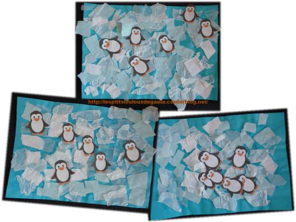 Assez Bricolage enfants pour l'hiver. Petits pingouins sur la banquise  CY36